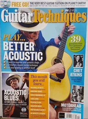 Guitar Techniques Sept 2018 #286 Play Better Acoustic FREE SHIPPING (Best Playing Acoustic Guitar)