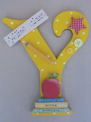 School Teacher Personalised *ANY LETTER & NAME* Class room Door Sign Plaque yw - Classroom Door Signs