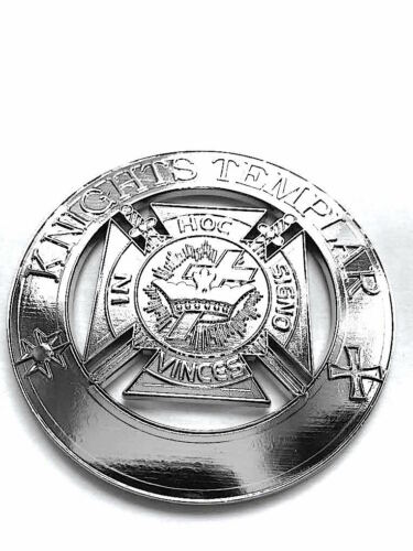 Masonic  Metal Chrome KNIGHTS TEMPLAR Auto Car Emblem