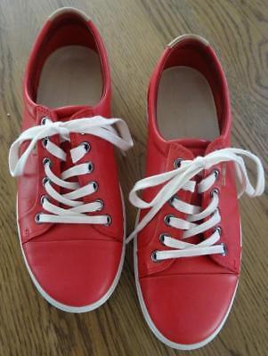 ECCO Damenschuhe Sneaker Gr. 38 -rot- Schnürschuhe