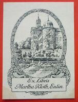 Exlibris, Ex Libris ,martha Ileana, Eutin, Paesaggio, Art Nouveau, Lucchetto -  - ebay.it