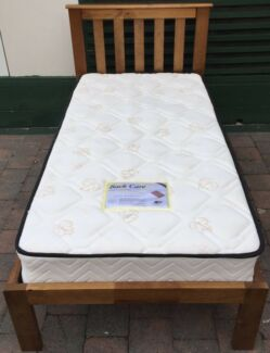 Excellent wooden frame single bed with almost new mattress