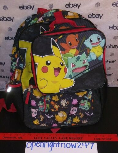 BIOWORLD POKEMON PIKACHU BACKPACK WITH ATTACHED MATCHING LUNCHBOX 2019