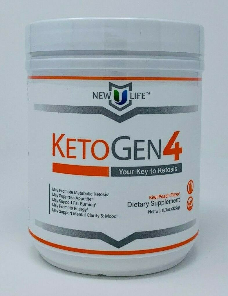 NewULife New U Life Ketone Drink Mix KETOGEN4 Kiwi Peach Flavor Keto Ketosis