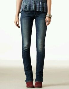 American Eagle Womens sz 8 EXTRA LONG Skinny Kick Jean Dark Wash