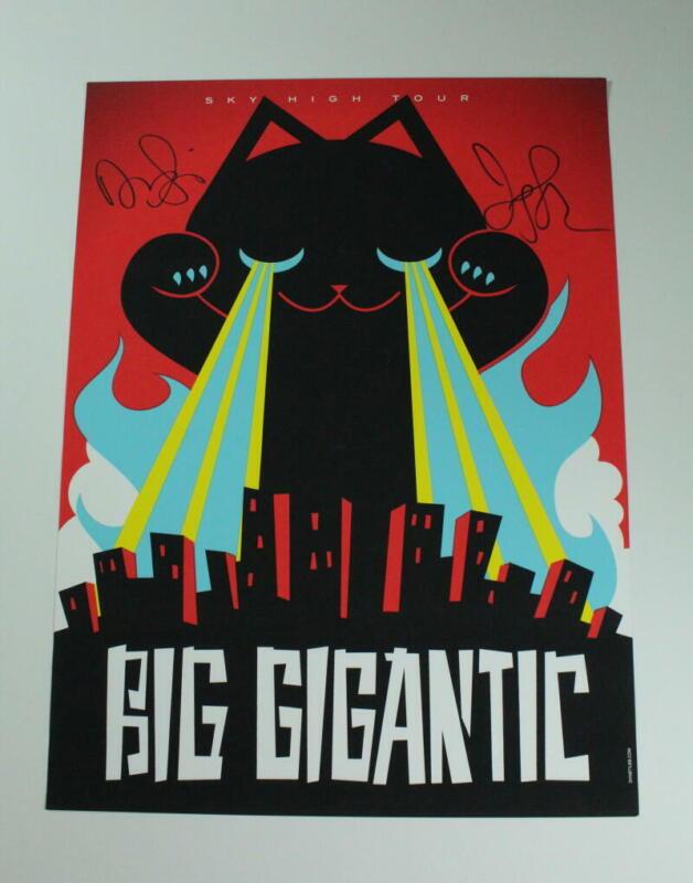 BIG GIGANTIC SIGNED AUTOGRAPH CONCERT TOUR POSTER - SKY HIGH TOUR, RARE