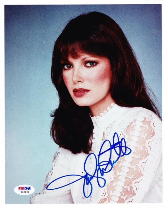 HOT SEXY JACLYN SMITH SIGNED 8X10 PHOTO CHARLIES ANGELS AUTHENTIC AUTOGRAPH PSA
