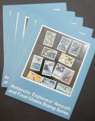 EDW1949SELL : AUSTRALIAN ANTARCTICA 5 Complete Presentation Packs. All VF, MNH.