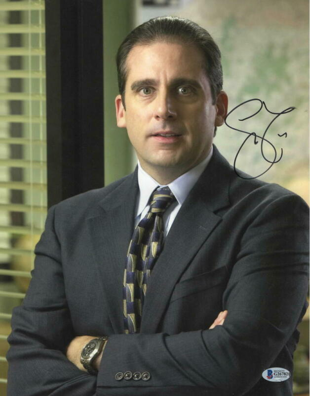 STEVE CARELL SIGNED 11X14 PHOTO THE OFFICE AUTHENTIC AUTOGRAPH BECKETT COA C