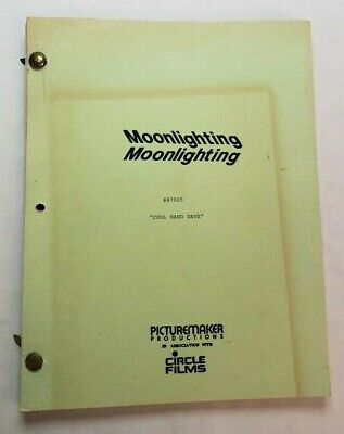 MOONLIGHTING / Roger Director 1987 TV Script BRUCE WILLIS