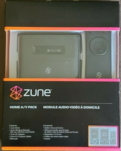 Zune Home A/V Pack - Dock, Wireless Remote, A/C Adapter, A/V Output Cables New