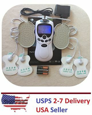 TENS Unit 8 Modes Muscle Stimulator Pain Relief Electronic Pulse Massager Kit