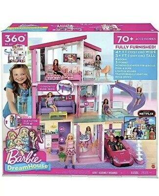 Barbie Dreamhouse Dollhouse with Pool Slide & Elevator - 70 pieces NEWEST
