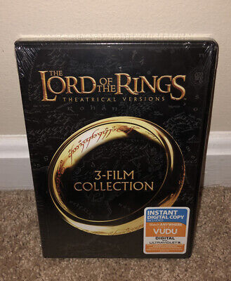 The Lord of the Rings: 3-Film Collection (DVD, 2014, 3-Disc Set, Theatrical Ver…