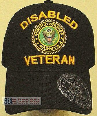 LICENSED PATCH DISABLED U.S. ARMY VETERAN VET DAV MILITARY INSIGNIA LOGO CAP HAT