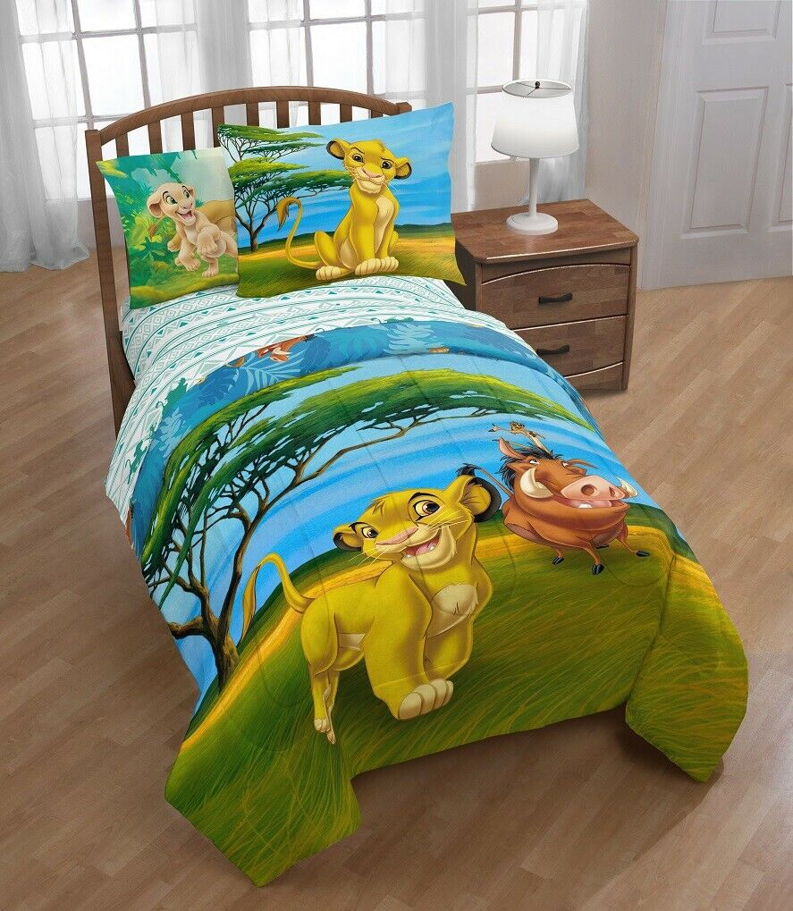 Lion King Twin/Full Reversible Comforter & Sham Set w/ Simba