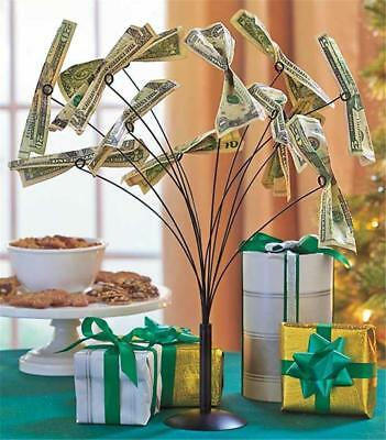 METAL MONEY TREE CREATIVE DISPLAY TABLE CENTERPIECE BIRTHDAY GIFT GIVING IDEA](Birthday Money Tree)