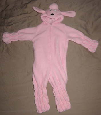 Girl's Pink POODLE Dress Up Washable COSTUME Sz 3T Fleece Dog Puppy Halloween - Girl Puppy Halloween Costume