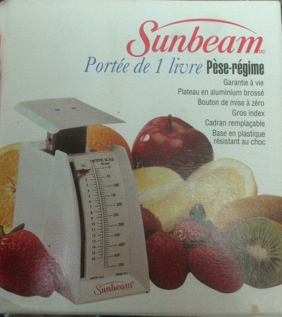 Sunbeam  Diet Scale 1 pound Capacity Scale Brand New in Opened Box Vintage