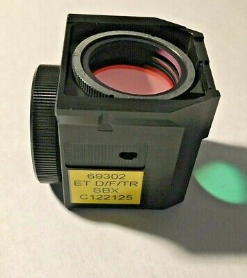 Nikon Dftr Sbx Triple Fluorescence Filter For Te Microscopes Missing Exciter