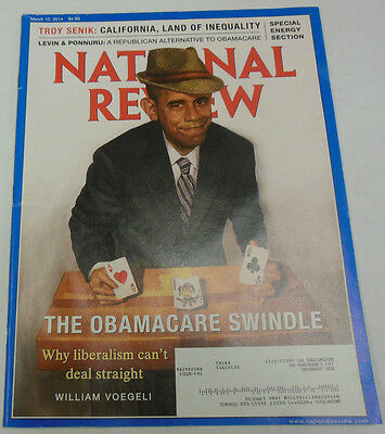 National Review Magazine Barack Obamacare Swindle March 2014 071814R