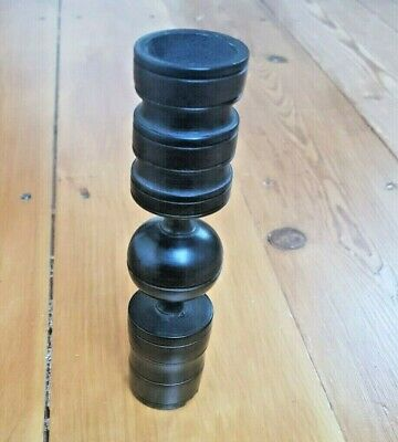 Ebony Wooden Candlestick 17cm High & Ethically Sourced