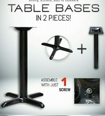 Restaurant Table Bases In Table Height And Bar Height Cross T-leg Round Base