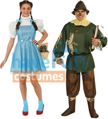 Couples Costumes Adult Dorothy Scarecrow Wizard of Oz Halloween - Halloween Costumes Adults Couples