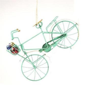 Cody Foster Retro Holiday Mint Green Bike Bicycle Christmas Village Ornament