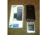Galaxy S3 extended battery kit blue