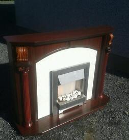 Mahogany fireplace surround