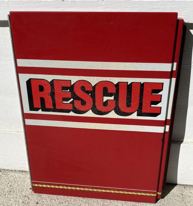 Fire Truck Door W/ RESCUE Decal