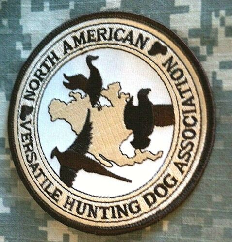 North American Versatile Hunt Dog Assoc Jacket Patch Color Good Condition Sew-on