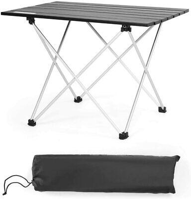 Mesa de Camping Plegable de Aluminio Mesa de Picnic con Bolsa de...