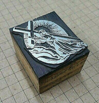 Jesus Cross Letterpress Printer Block Kelsey Printing Press