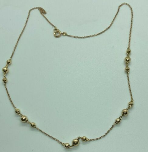 EXCELLENT VICTORIAN 9 CARAT ROSE GOLD NECKLACE WITH TRIOS OF BAUBLES ZL649