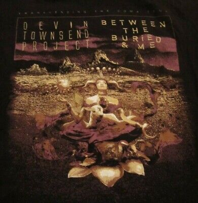 Devin Townsend Project Between The Buried And Me T-Shirt M Medium Haken (Between The Buried And Me T Shirt)