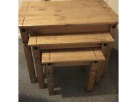 Corona pine set of tables