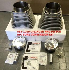 883-1200 CYLINDER & Siffton PISTON BIG BORE CONVERSION KIT 9.5:1  SPORTSTER 04 +