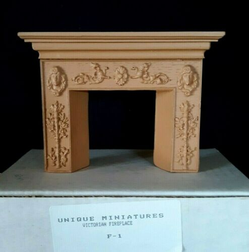 UNIQUE Miniatures Dollhouse Victorian Fireplace #F-1 (NOS)