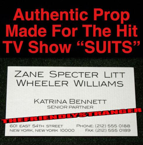 """KATRINA BENNETT """"SUITS"""" PROP BUSINESS CARD c ZANE SPECTER LITT WHEELER WILLIAMS"""