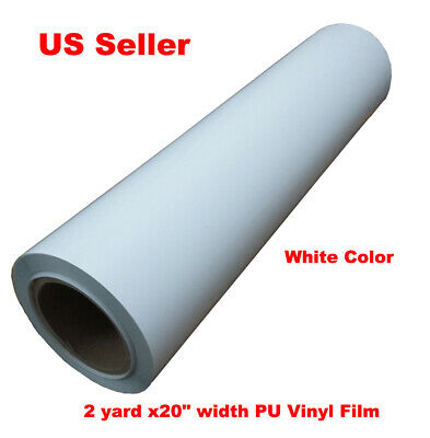 2 Yard Pu Vinyl Film Heat Press Transfer Tshirt Printing White Color 20 Width