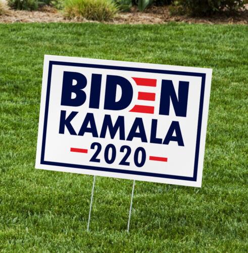 "Biden/Harris for President 2020 Yard Signs with H-Frames 12""x18"" (Kamala Logo)…"