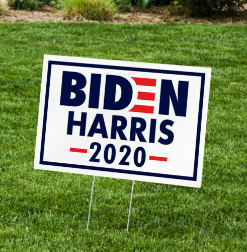 """JOE BIDEN HARRIS FOR PRESIDENT 2020 12""""x18"""" YARD SIGN WITH STAKE CAMPAIGN"""
