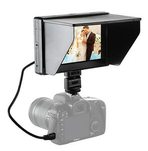 UK Mcoplus Viltrox 7'' DC-70II Clip-on Color TFT HD LCD Monitor Display for DSLR
