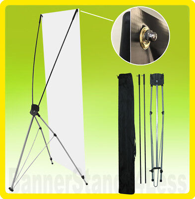 2 Pack - 24x63 Tripod X Banner Stand Xstand Trade Show Sign Display 60x160