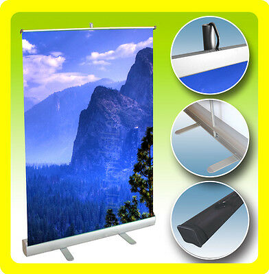 Retractable Banner Stand Table Top Display Sign Free Printing 24x38 - Custom