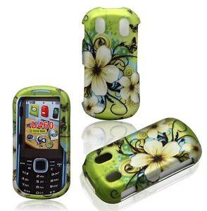 For Samsung Intensity 2 U460 Rubberized Design Hard Cover Case Hawaiian Flower