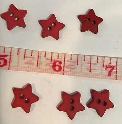 25 Buttons  Red Star Sewing Buttons  1/2