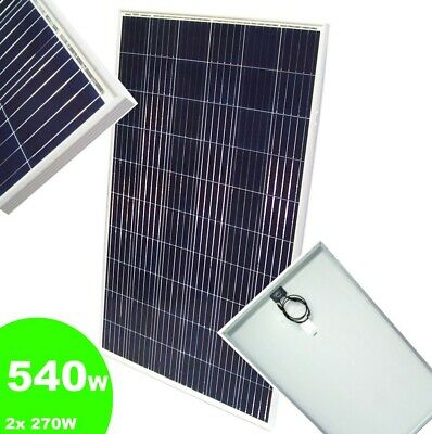 Panel 2 (2 Stück 55402 Solarpanel Solarmodul 270W Poly Solarzelle Photovoltaik 540W)